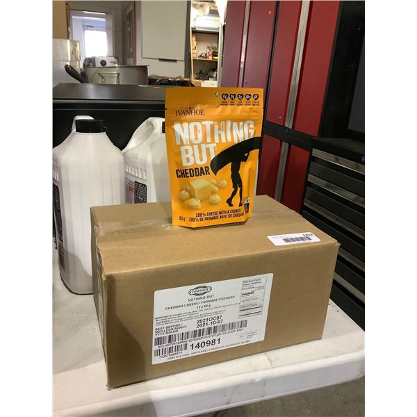 Case of Ivanhoe Nothing But Cheddar Cheese Puffed Cheese Snacks (12 x 60g)