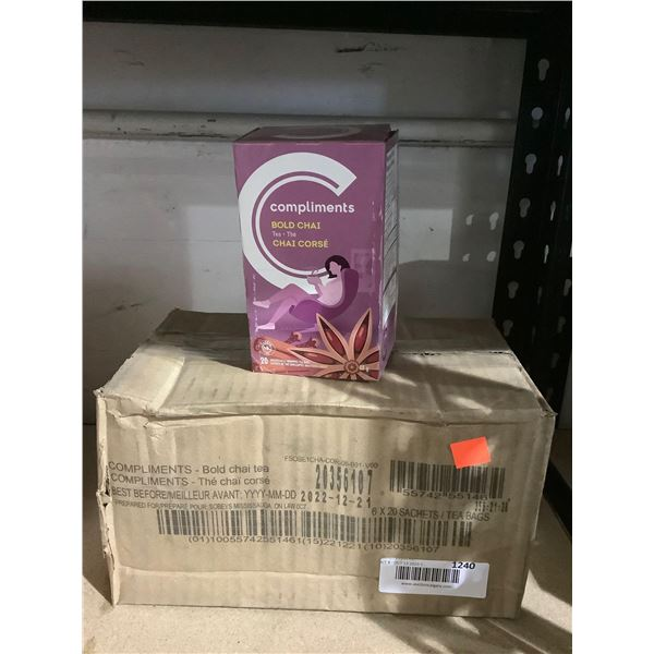 Case of Compliments Bold Chai Tea (6 x 48g)
