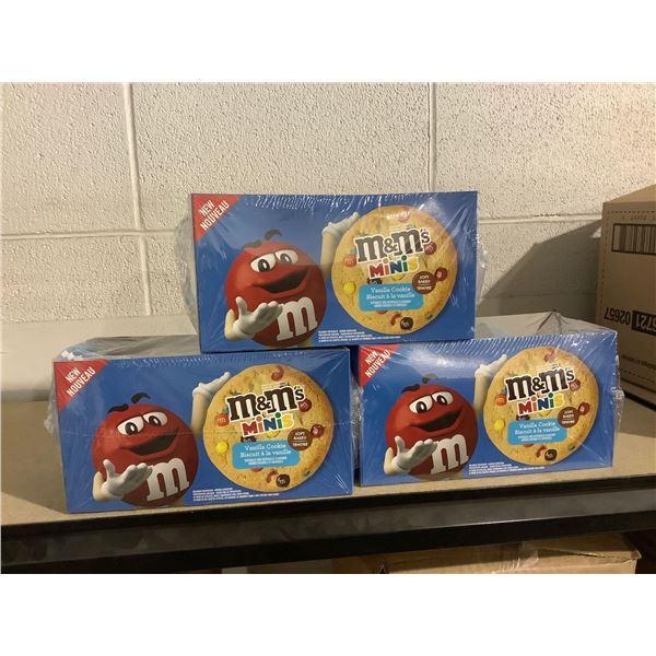 M&M Minis Vanilla Cookies (12 x 53g) Lot of 3