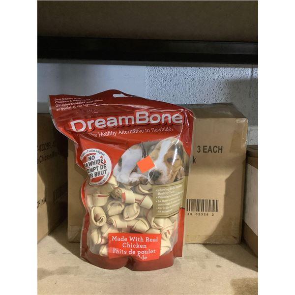 Case of Dreambone Vegetable & Chicken Dog Chews (3 x 720g)