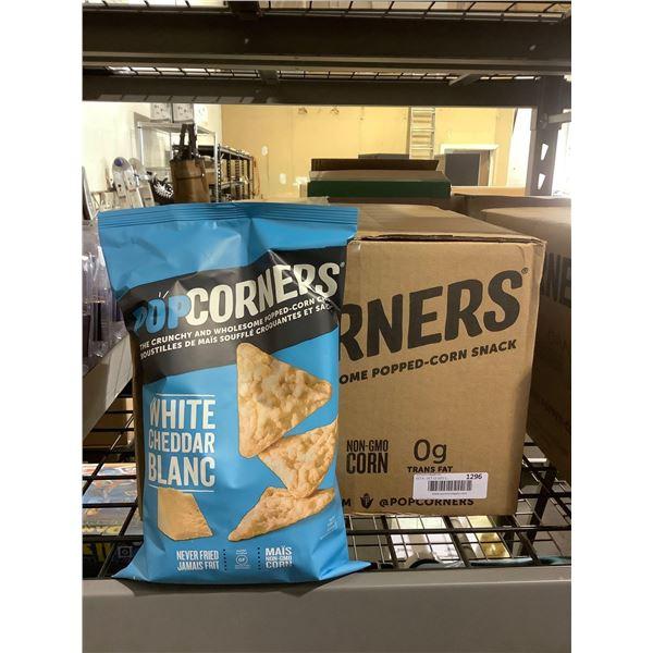 Case of Popcorners White Cheddar Popped-Corn Chips (12 x 142g)