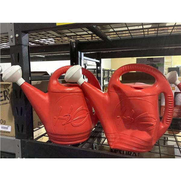 DCN H2O 2 Gal. Watering Can in Red Lot of 2