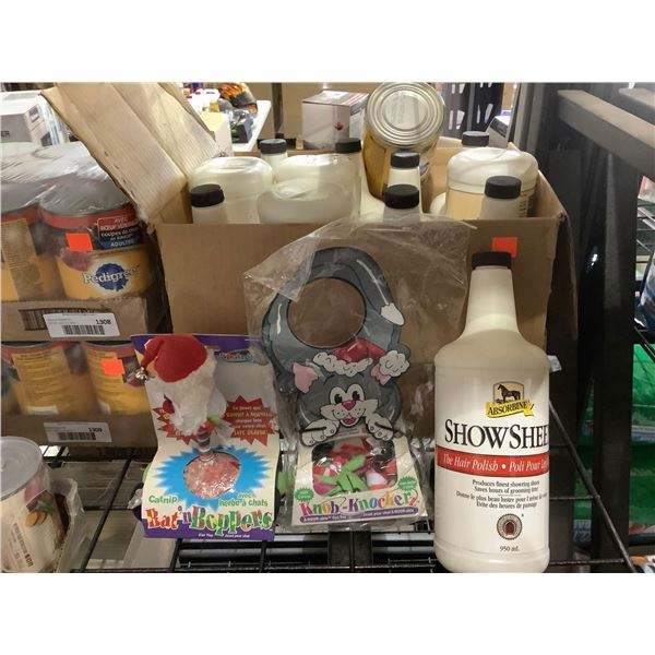 Box of Misc. Pet Supplies