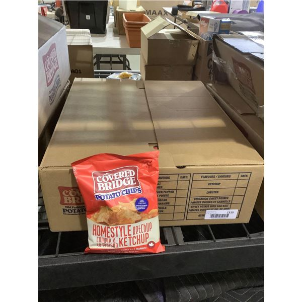Case of Covered Bridge Ketchup Potato Chips (24 x 36g)