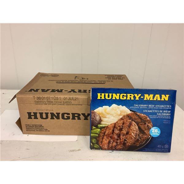 Hungry Man Salisbury Steak Dinners case lot 8 x 455g