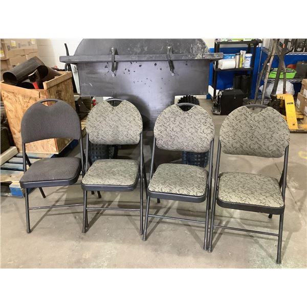 Lot of 4 Folding Chairs Assorted Styles