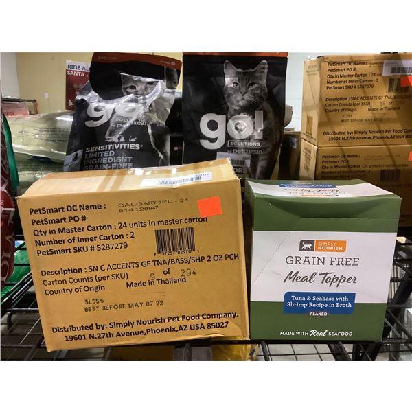 Case of Simply Nourish Grain-Free Flaked Tuna & Seabass w/ Shrimp Recipe in Broth Cat Food (24 x 56g