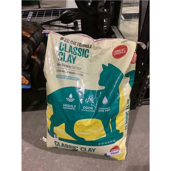 Great Choice Classic Clay Multi-Cat Formula Non-Clumping Cat Litter (18.1kg)