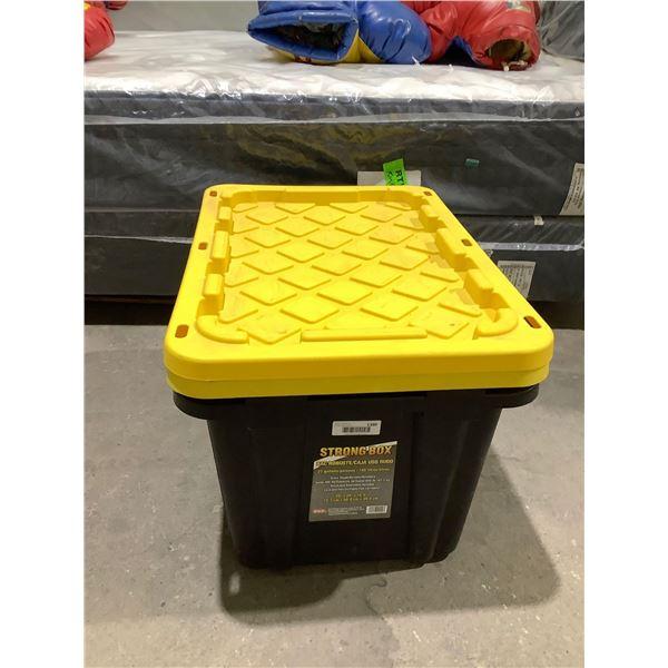 Strong Box Storage Bin w/ Lid (29in x 20in x 15.5in)
