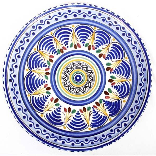 Spanish Isacu Toledo Pottery Plate
