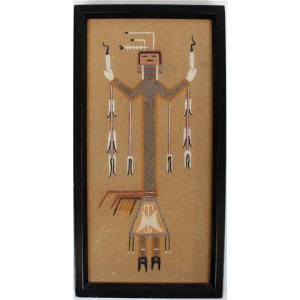 Vintage Navajo Sand Painting by Wilson Price