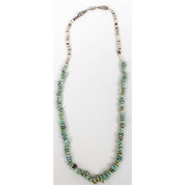 Navajo Shell Heishi and Turquoise Nugget Necklace
