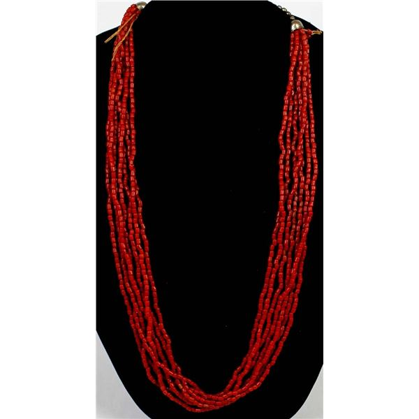 7 Strand Coral Necklace