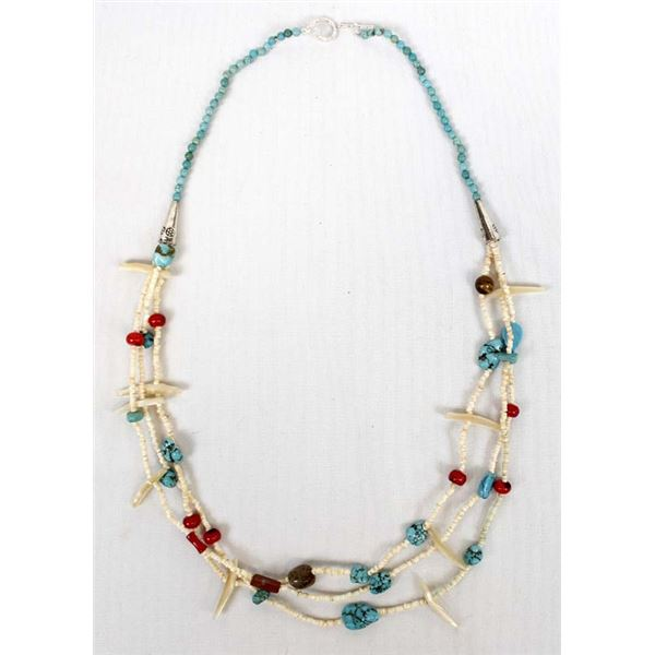 Artisan Crafted 3 Strand Treasure Necklace