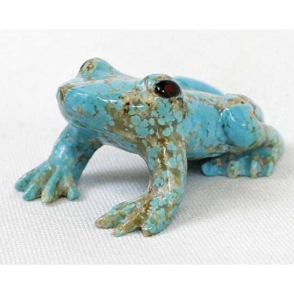 Carved Turquoise Frog Fetish