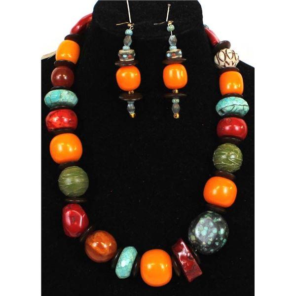 Quail Ridge Studios African Trade Bead Necklace by Larry McLellan