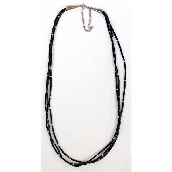 Navajo Pen Shell Heishi & Turquoise Bead Necklace