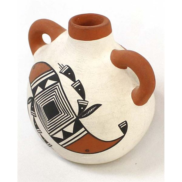 Acoma Ceramic Pottery Canteen by Linda Concho