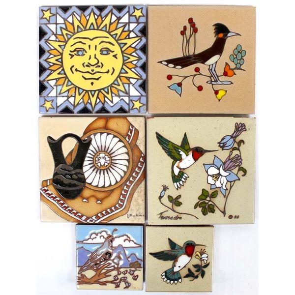 6 Southwestern Ceramic Tiles