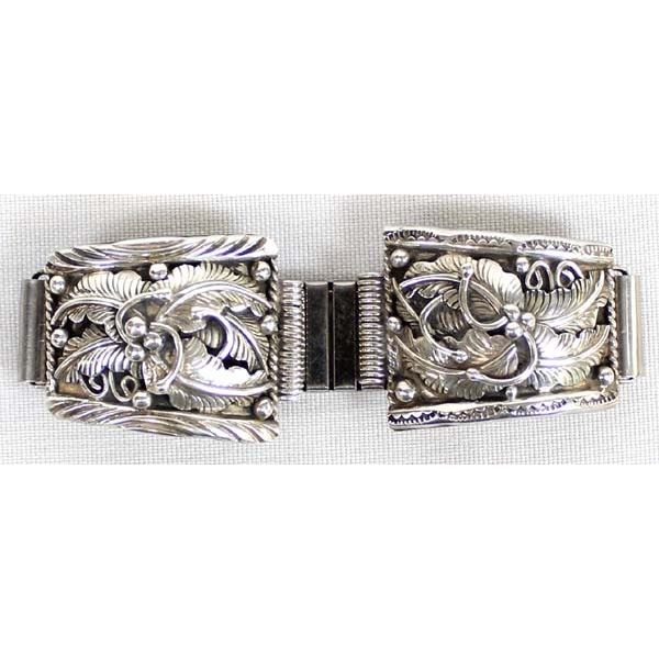 Vintage Navajo Sterling Silver Watch Band