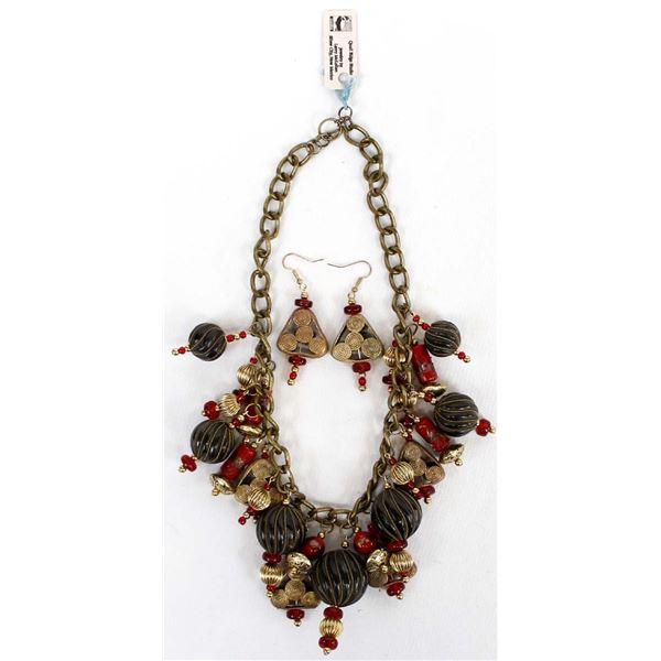 Quail Ridge Studios African Bead Necklace by Larry McLellan