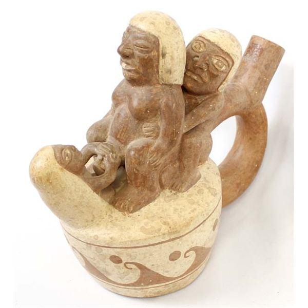 Moche' Birthing Stirrup Pot Replica