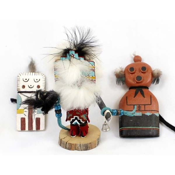 3 Native American Kachinas
