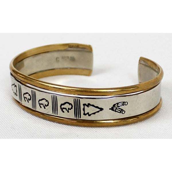 Navajo Sterling Gold Filled Cuff Bracelet