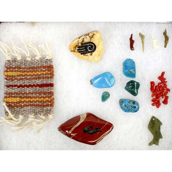 Collection of Beads, Polished Rocks, & Turquoise