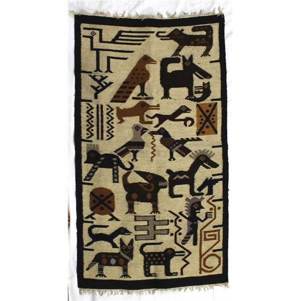 South American Wool Textile Rug