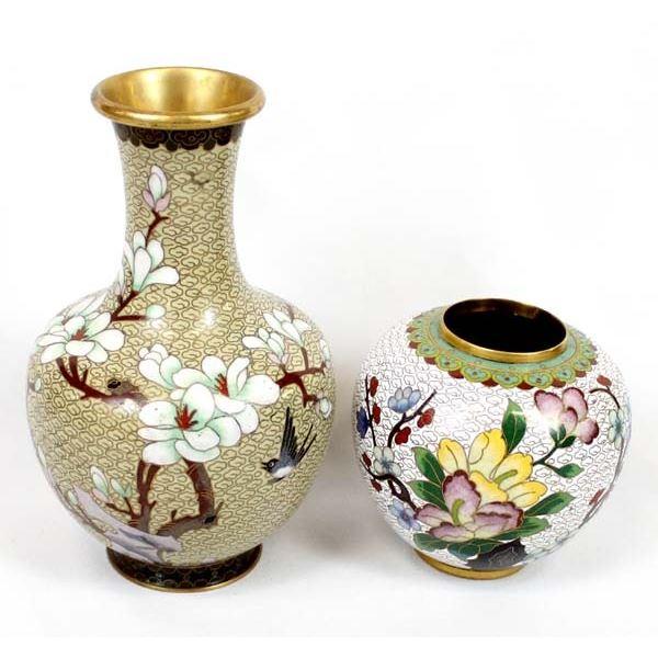 2 Pieces of Vintage Cloisonne' Vases