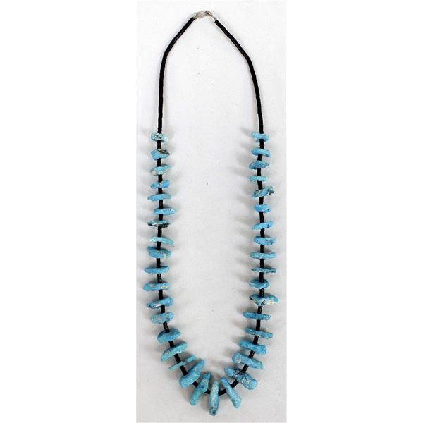 Navajo Shell Heishi & Turquoise Nugget Necklace