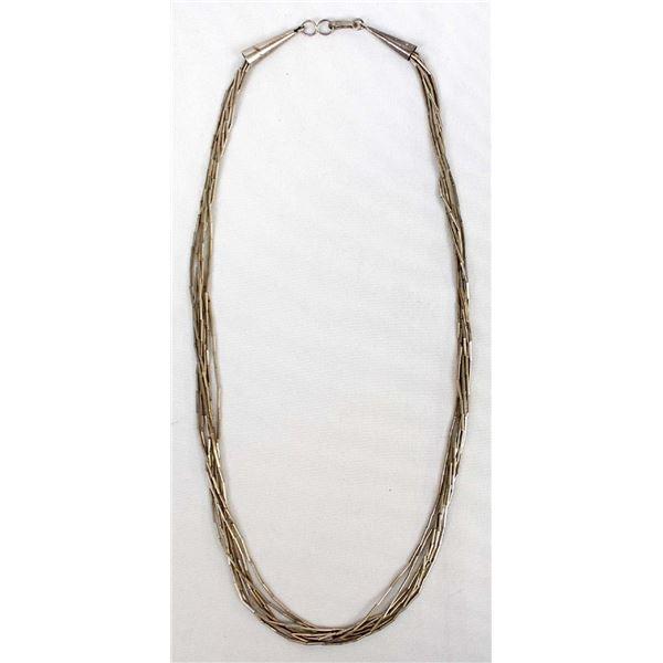 Navajo Liquid Silver 7 Strand Necklace