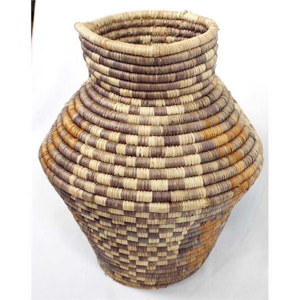 Large Vintage Coiled African Basket