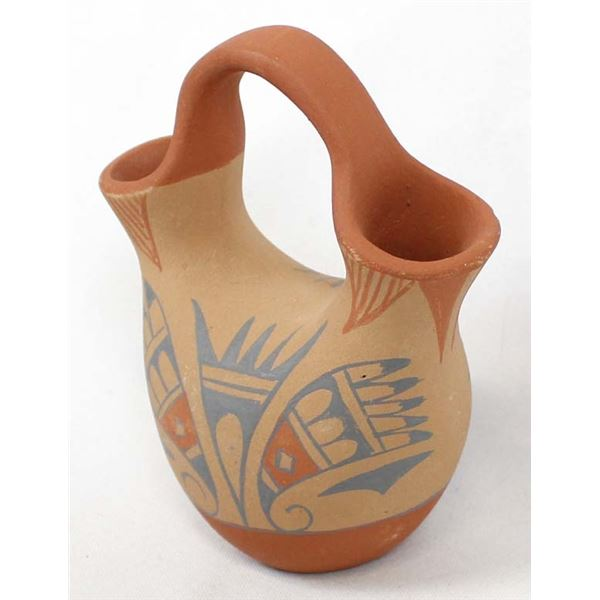 Jemez Pottery Wedding Vase by R. Sandia