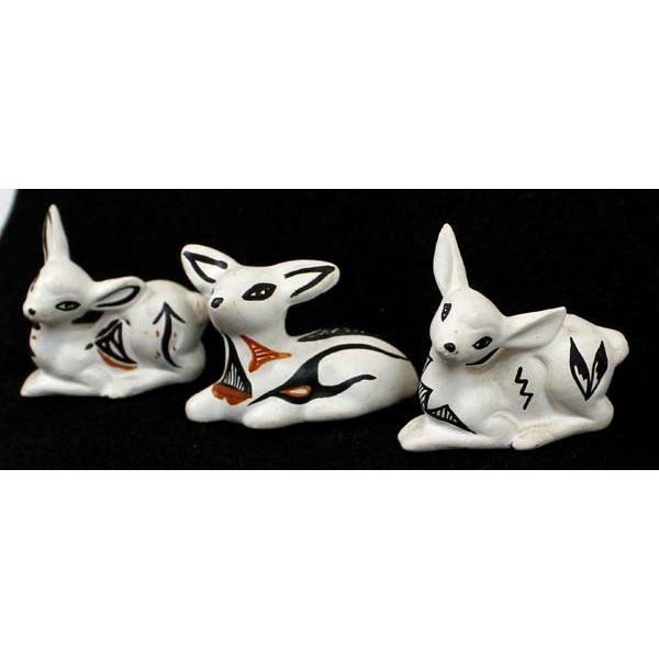 3 Laguna Hand Painted Ceramic Deer