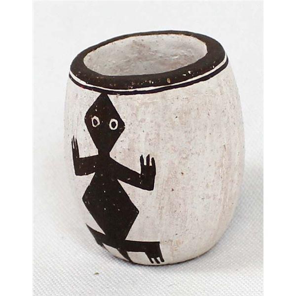 Small Acoma Black & White Pottery Jar, Emma Lewis