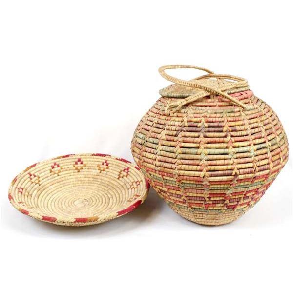 2 Vintage Ethnic Baskets