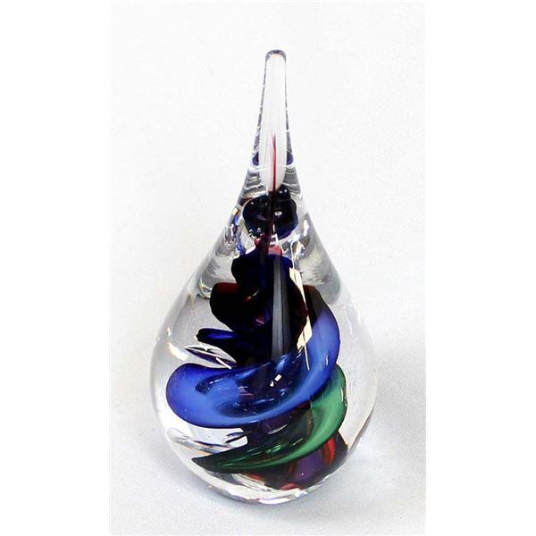 Poland Studio Art Glass Paperweight,Marian Pyrcak