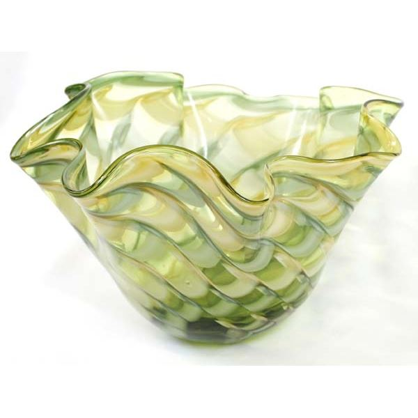 Art Glass Ruffled Edge Bowl