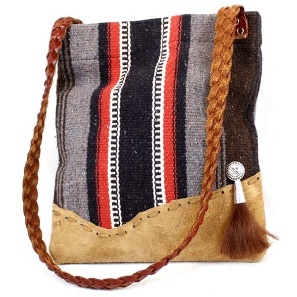 Quail Ridge Studios Hand Woven Wool One of a Kind Tablet Tote by George Smith
