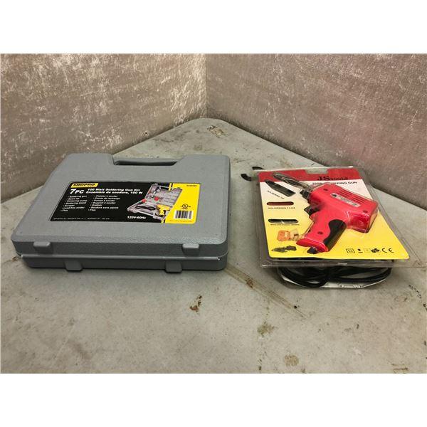 Shopro 7pc 100W soldering gun kit & JS Tools 100W soldering gun