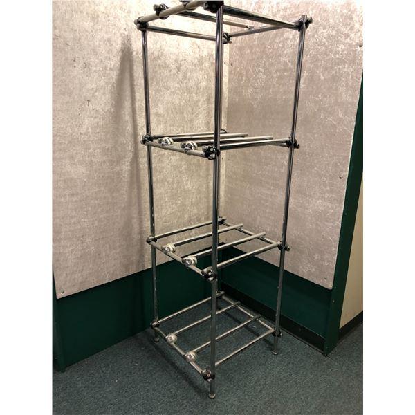 Chrome plated wheel/ rim holder display/ storage stand