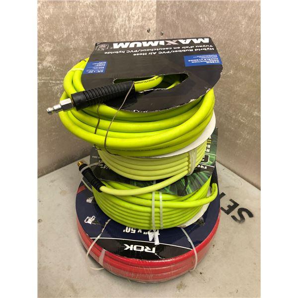 Group of 4 flex air hoses