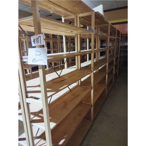 APPROX. 24 RUNNING FT LUNDIA SHELVING, 7 UPRIGHTS, 42 SHELVES