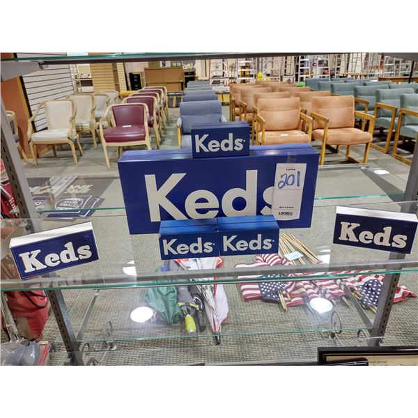 6 ASSORTED KEDS DISPLAY SIGNS