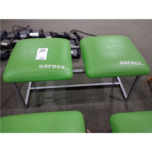 CROCS DOUBLE SEATED ADVERTISING STOOL