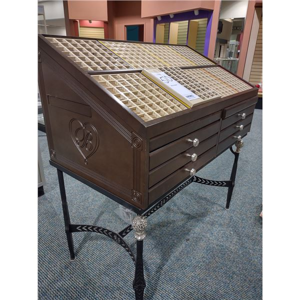 UPSCALE JEWELRY DISPLAY W/ MULTI DRAWERS (COST APPROX. $650.00 NEW)