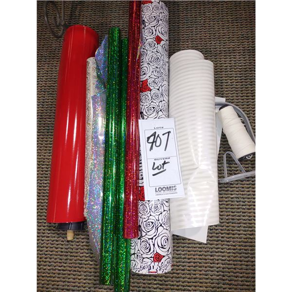 ASSORTED LOT OF NEW GIFT WRAP PAPER