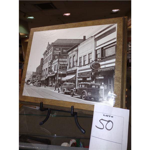 FRAMED PHOTO OF ORIGINAL J. REYER & CO. SHOE STORE CIRCA 1930S